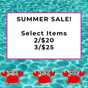 ☀️SUMMER SALE☀️ 2 for $20 or 3 for $25